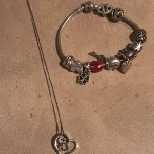 Pandora Necklace and bracelet with charms !